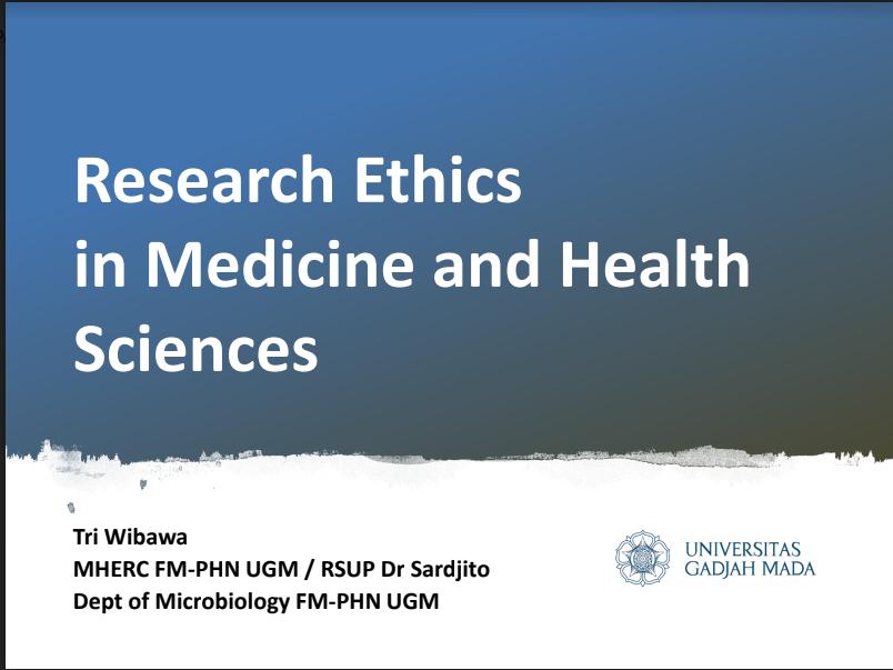 Materi Pelatihan Etika Penelitian 20 Okt 2018